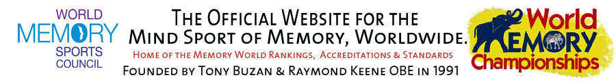 The Official Website For The Mind Of Sport of Memory, Worldwide, Home of Memmory World Rankings, Accreditations and standards